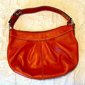 Coach Leather Hobo Bag